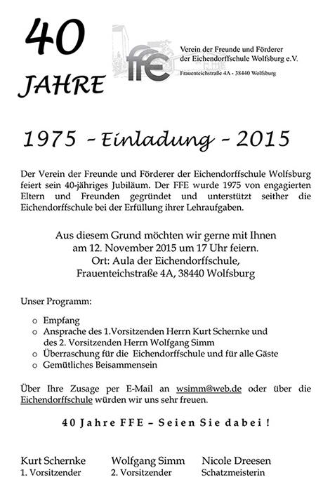 ffe-eichendorffschule, Einladung